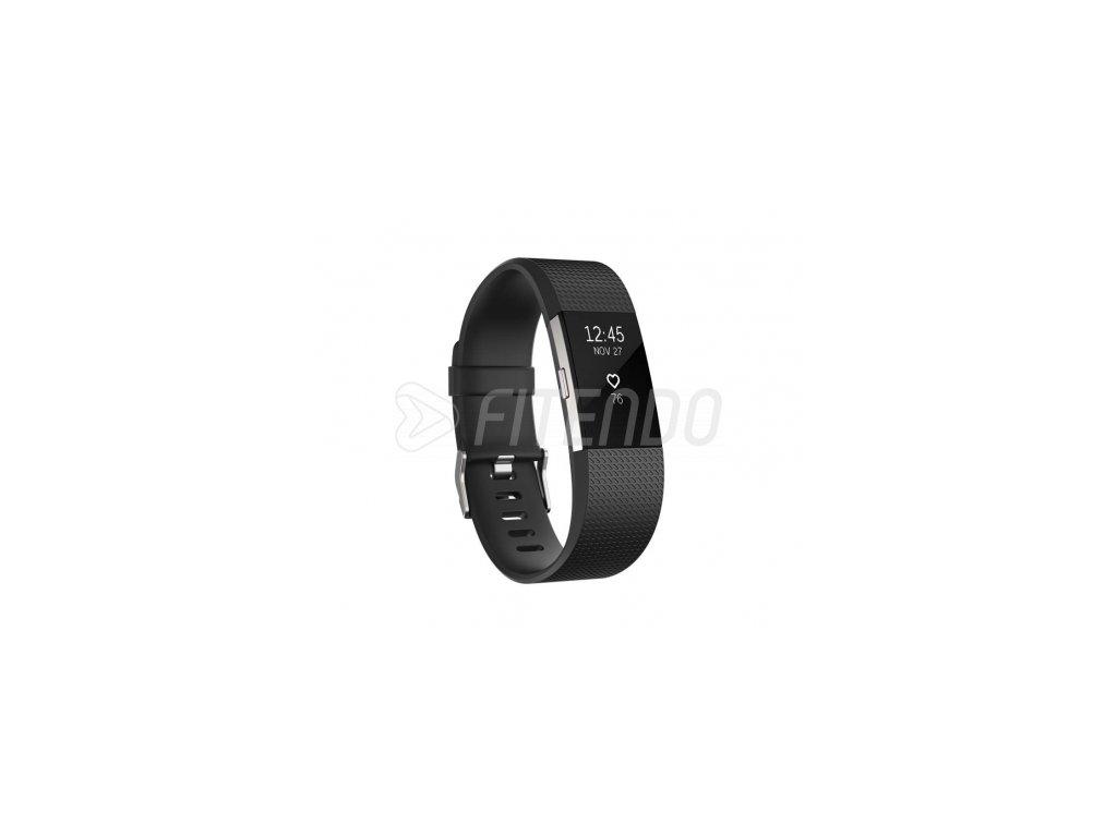 Fitbit Charge 2 Black Silver - Large  + Ochranná fólia na displej v hodnote 6€ zadarmo!