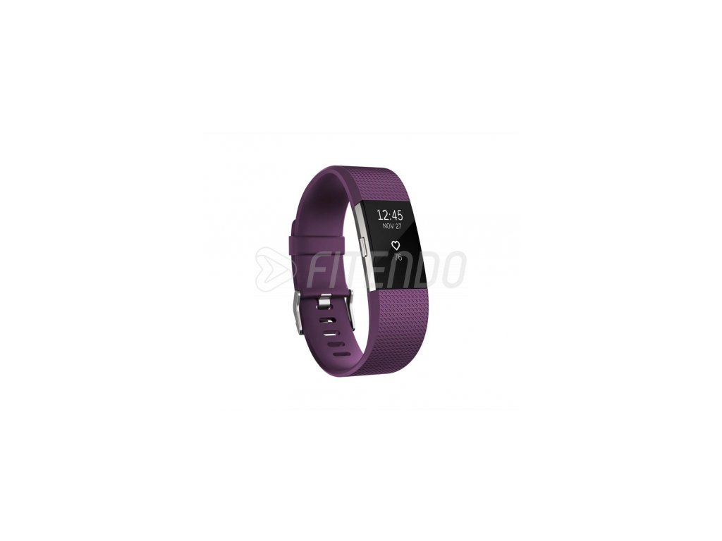 Fitbit Charge 2 Plum Silver - Small