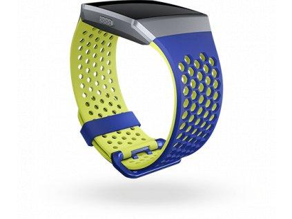 Fitbit Ionic športový remienok Cobalt/Lime - L