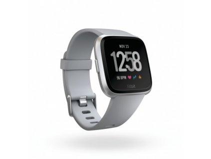 Fitbit Versa - Gray / Silver Aluminum  + Ochranná fólia na displej za 6€ zadarmo!