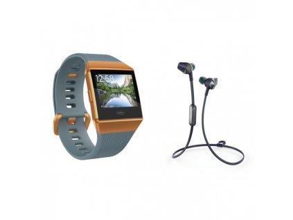 Fitbit Ionic - Slate Blue/Burnt Orange + Flyer Nightfall Blue  + Ochranná fólia na displej v hodnote 6€ zadarmo!
