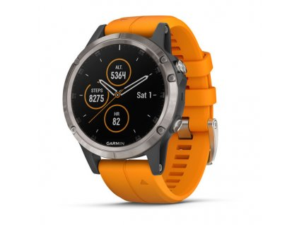 Garmin fénix 5 Plus Sapphire, Titanium, Orange band