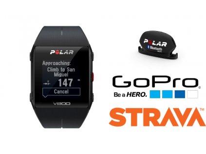 POLAR V800 HR čierny Combo  + Zadarmo Polar snímač kadencie a rýchlosti!